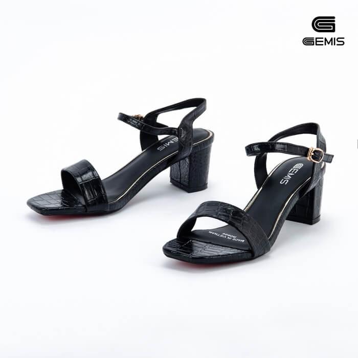 Sandal Cao Gót Xi Rắn 5CM Gemis - GM00021 Xưởng Giày 04