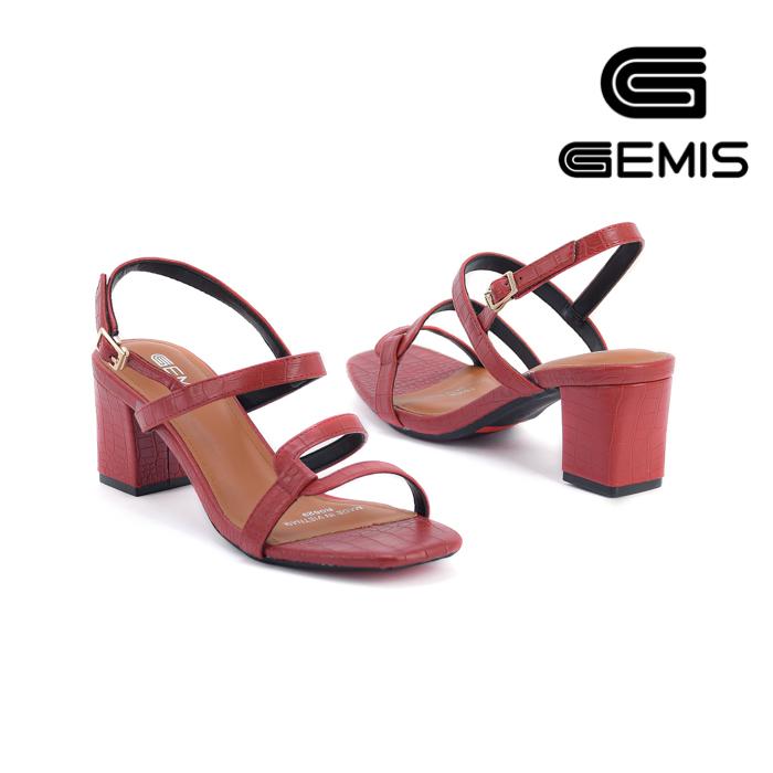 Sandal Cao Gót Vân Rắn 5CM Gemis - GM00036 Xưởng Giày 06