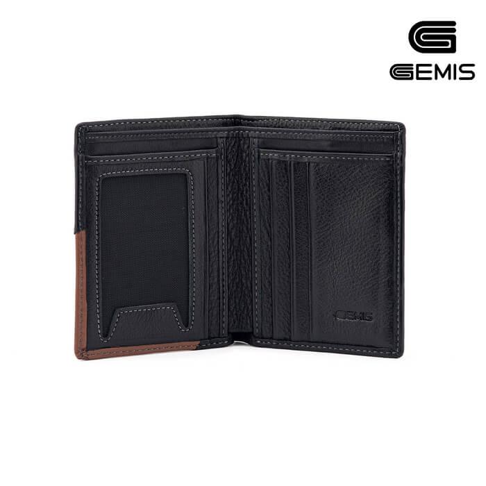Ví Đứng Da Bò Phối Gemis - GM00042 Xưởng Giày 04