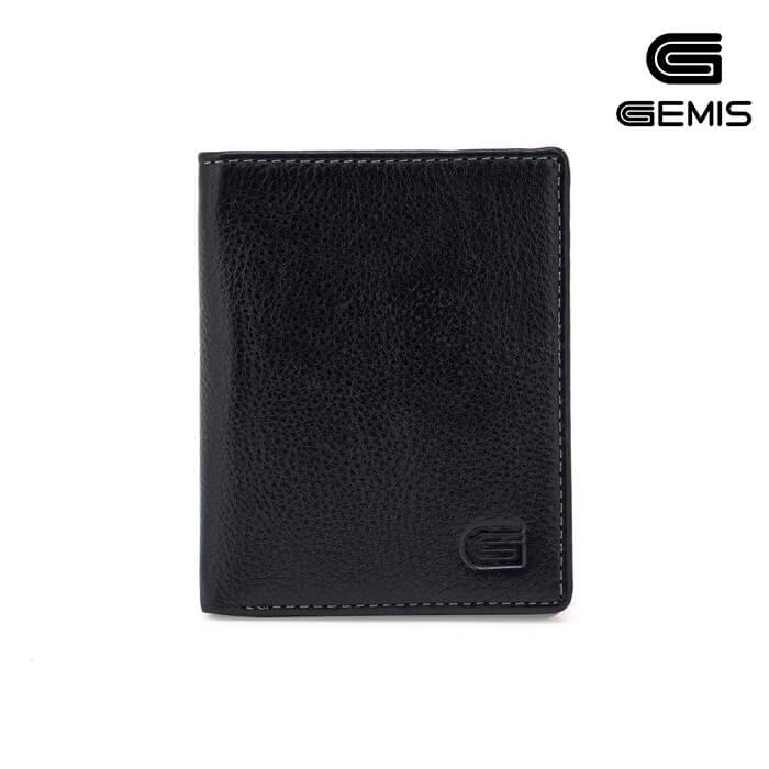 Ví Đứng Da Bò Đen Gemis - GM00046 Xưởng Giày 03