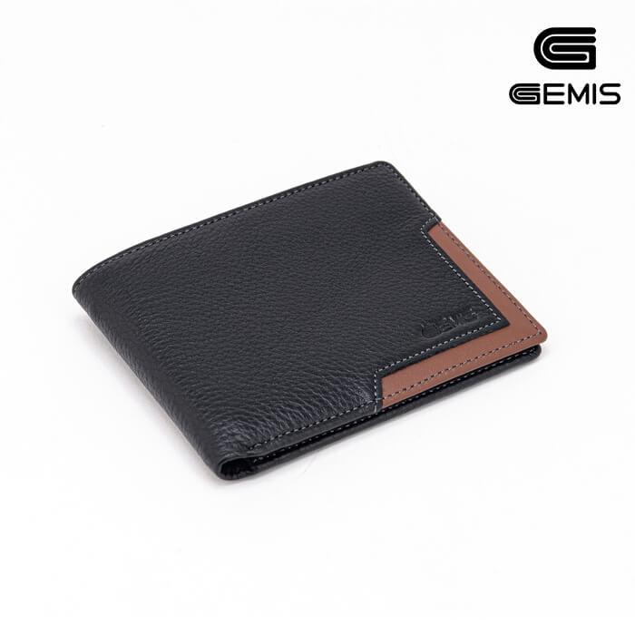 Ví Ngang Da Bò Phối Gemis - GM00049 Xưởng Giày 01