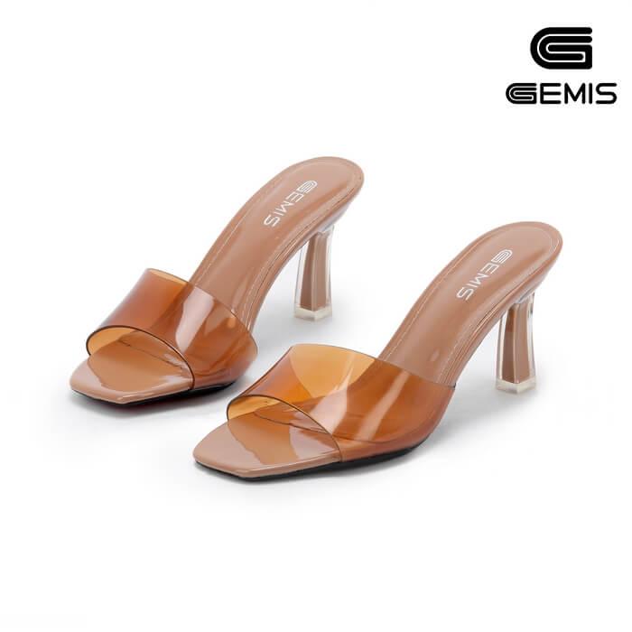 Guốc Cao Gót Quai Trong GEMIS - GM00059 Xưởng Giày 01