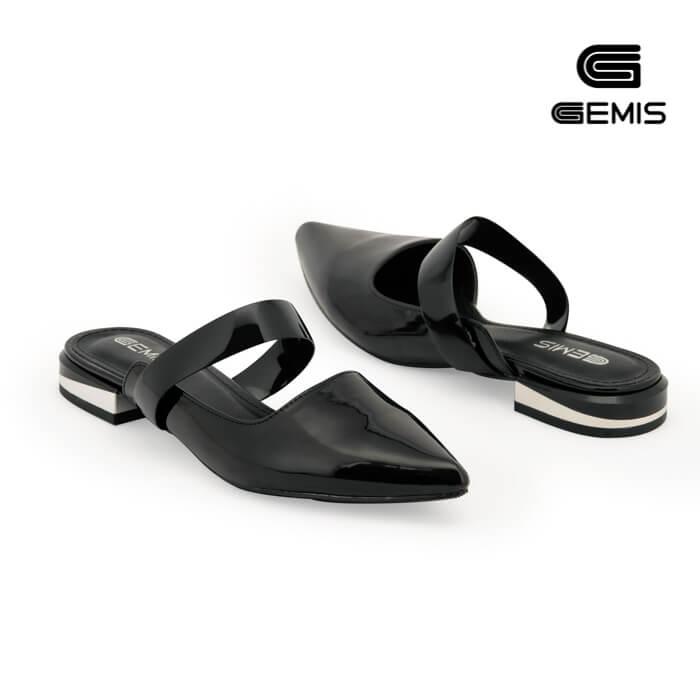 Giày hở hậu 2cm da bóng - GM00070 Xưởng Giày 04