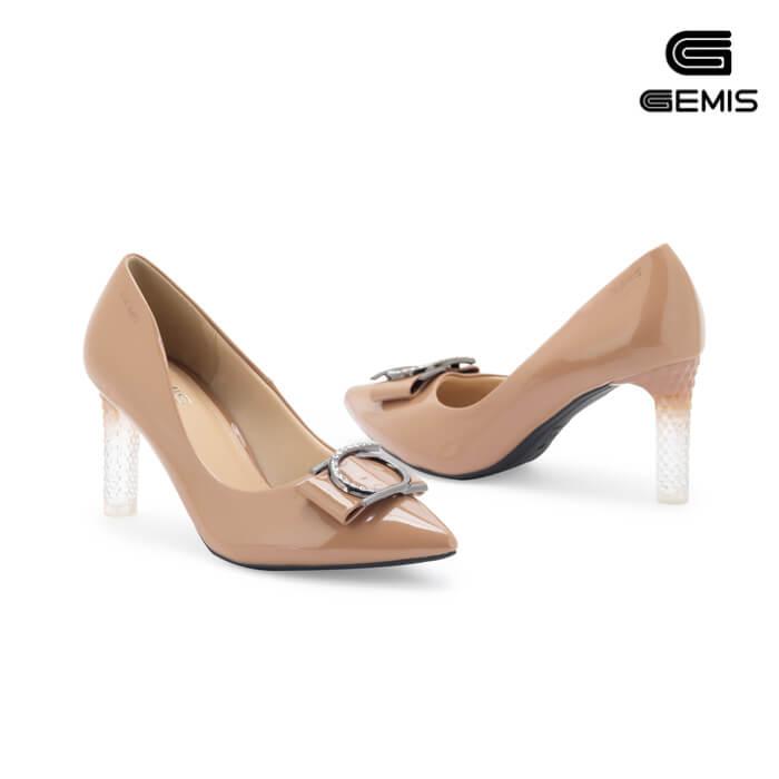 Giày Cao Gót Đế Trong Nơ Khoá 7cm GEMIS - GM00113 Xưởng Giày 09