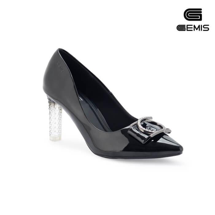 Giày Cao Gót Đế Trong Nơ Khoá 7cm GEMIS - GM00112 Xưởng Giày 01