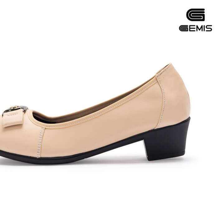 Giày cao gót 3cm da bò khoá vuông - GM00161 Xưởng Giày 01