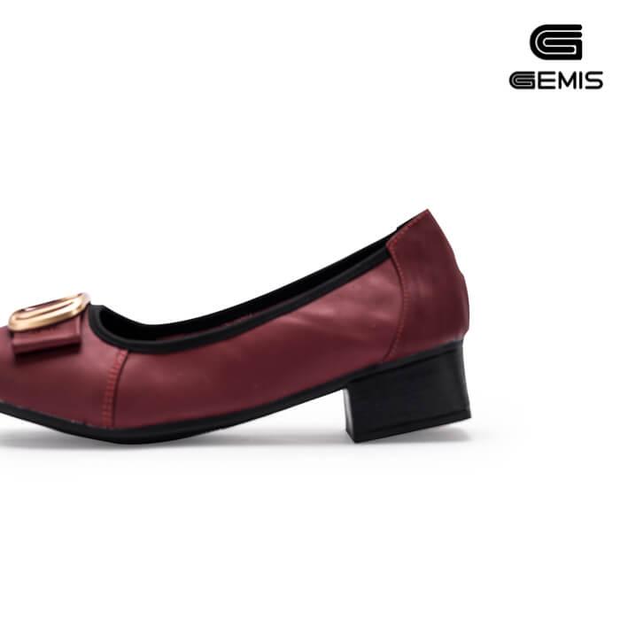 Giày Cao gót 3cm da bò khoá vuông - GM00162 Xưởng Giày 01