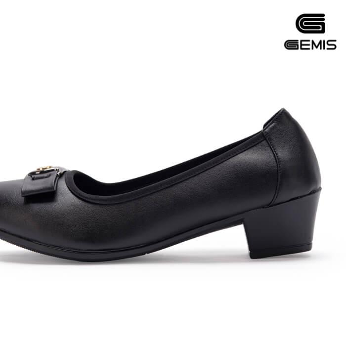 Giày cao gót 3cm da bò khoá vuông - GM00161 Xưởng Giày 08