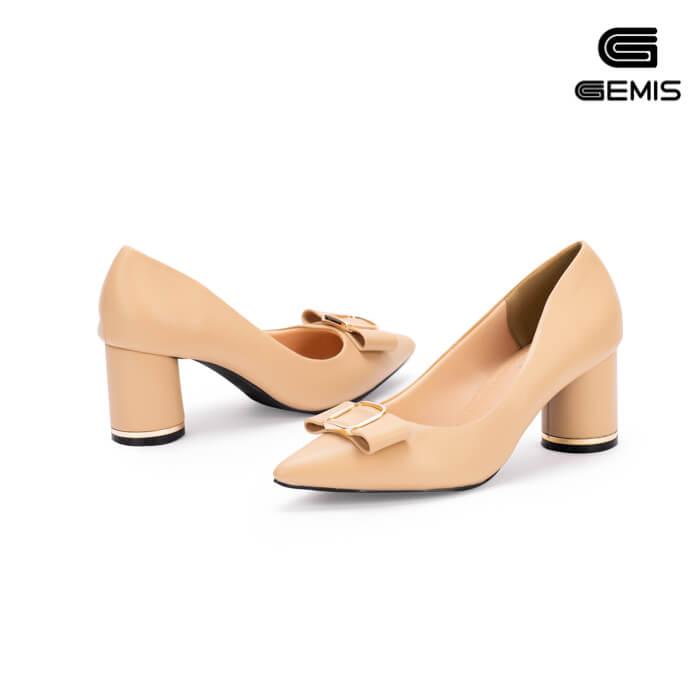 Giày Cao gót 7cm nơ khoá gemis - GM00159 Xưởng Giày 03