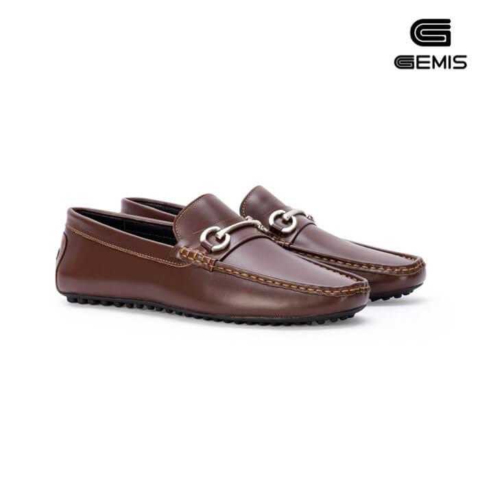 Giày mọi nam da bò GEMIS - GM00181 Xưởng Giày 09