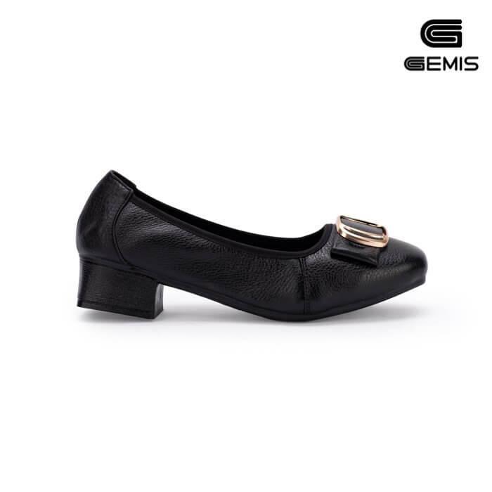 Cao gót 3cm da bò khoá vuông - GM00162 Xưởng Giày 08