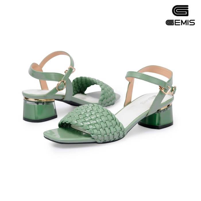 Sandal mũi vuông 5cm GEMIS - GM00259 Xưởng Giày 09