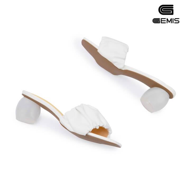 Guốc cao gót quai nhún 5cm GEMIS - GM00261 Xưởng Giày 05
