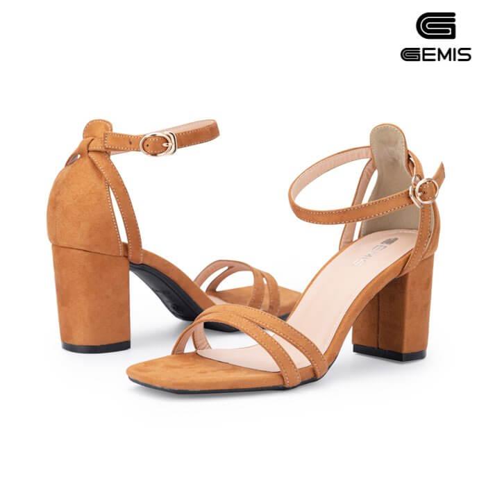 Sandal cao gót da lộn 7cm - GM00265 Xưởng Giày 05